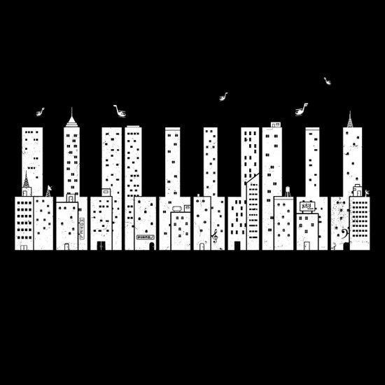Piano Skyline Art Print