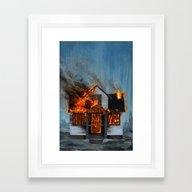 House On Fire Framed Art Print