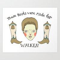 Made For Walken Art Print