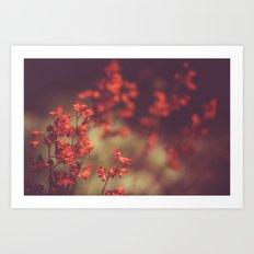 Deep Red Art Print
