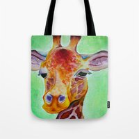 Colorful Giraffe Tote Bag