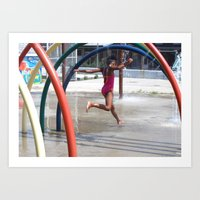 Urban Water Fall Art Print
