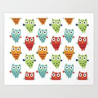 Owl Fun Art Print