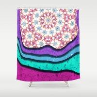 Melting Patterns I Shower Curtain