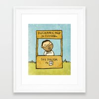 The Doctor Is In Framed Art Print