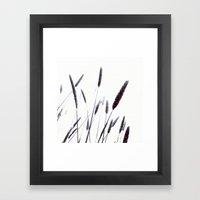 Grass in the wind Framed Art Print