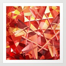 3D folded abstract Art Print