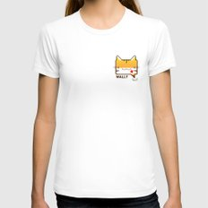Convo Cats! Wally Womens Fitted Tee White SMALL