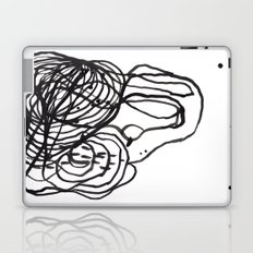 Paint 2 abstract black and white minimal brushstroke japanese modern home decor dorm college  Laptop & iPad Skin