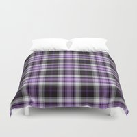 Purple Plaid Duvet Cover