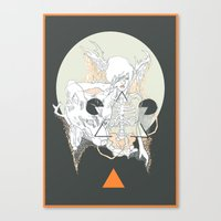 Moon Stone Canvas Print