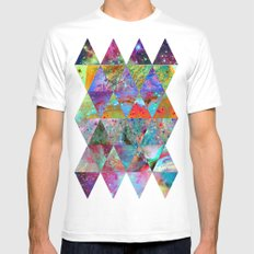 ▲ ☆ ▲ White Mens Fitted Tee SMALL