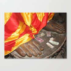 Offerings to Buddha Canvas Print