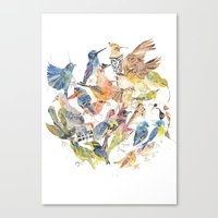 Bird Circle Canvas Print