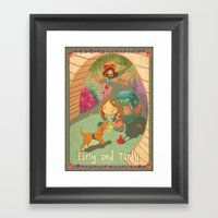 Early And Tardy  Framed Art Print