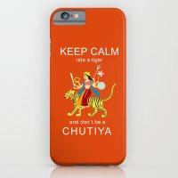 Keep calm, ride a tiger iPhone 6 Slim Case