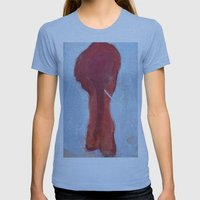 Red Elephant Womens Fitted Tee Athletic Blue SMALL