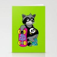 Really Radical Raccoon Stationery Cards