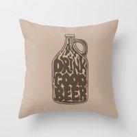 Drink Good Beer Throw Pillow