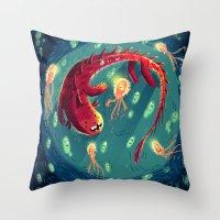 :::Sea Dragon::: Throw Pillow