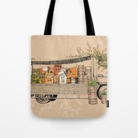 Green Invasion Tote Bag