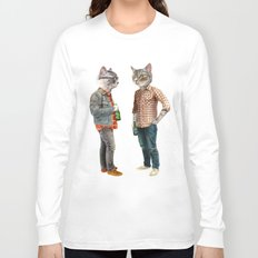 A Cats Night Out Long Sleeve T-shirt