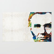 Abraham Lincoln Art - Colorful Abe - By Sharon Cummings Rug