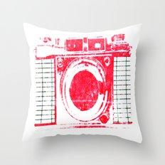 Red Camera Throw Pillow