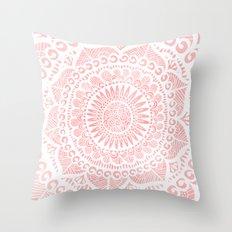 Blush Lace Throw Pillow