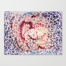 purple squiggle abstract Canvas Print