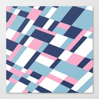 Matisse Map Pink Canvas Print