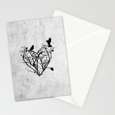 under construction (black and white) Stationery Cards