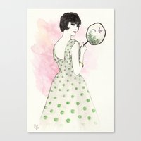 'Charlotte' Watercolor F… Canvas Print