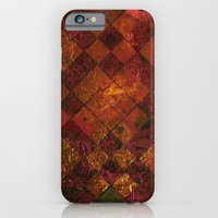 Old Tile - maroon and gold iPhone 6 Slim Case