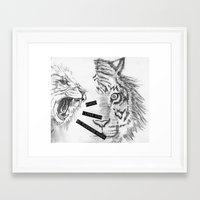 Fuck! I Love You So Fuck… Framed Art Print