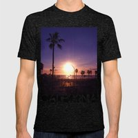 California Sunset Mens Fitted Tee Tri-Black SMALL