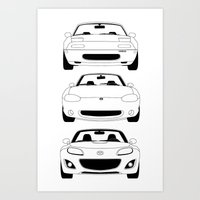MX-5/Miata Generations Art Print