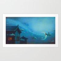 Silver River Tien Ho Art Print