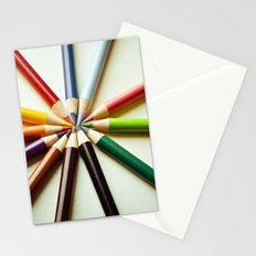 Color Wheel Stationery Cards