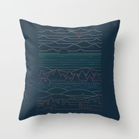 Linear Landscape Throw Pillow