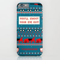 iPhone & iPod Case featuring A Christmas Sweater (Blue) by Sarajea