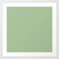 U14: Algae Chevron Art Print