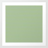 U14: algae chevron Art Print