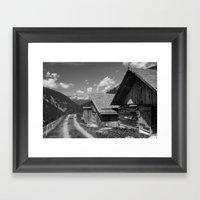 Cabins In Tirol Framed Art Print