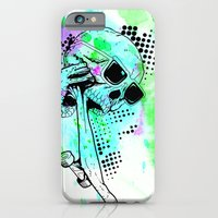 iPhone & iPod Case featuring Skater Deadication by Thousand Lines Ink
