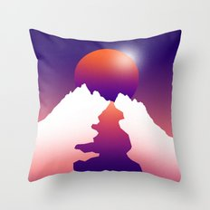 Spilt moon Throw Pillow