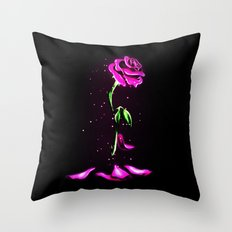 Beauty and The Beast Rose Flower Throw Pillow