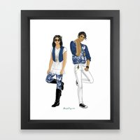 Fashion Journal: Day 17 Framed Art Print
