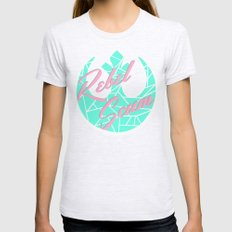 Star Wars Rebel Scum Minty Pink Womens Fitted Tee Ash Grey SMALL