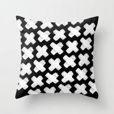 Black xxx Throw Pillow